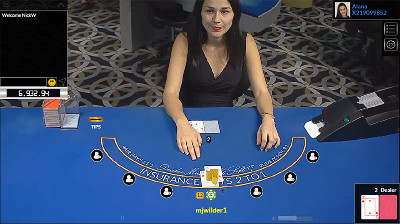 5Dimes live dealer blackjack - click to visit 5Dimes